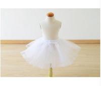 Wholesale Short Dresses Petticoats - HOT SALE Toddler Lace Edge Flower Girl's Cupcake Ball Gown Wedding Dress Kids Short Petticoats Tutu Underskirts Length 30cm