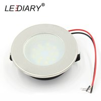 Wholesale Led Display Lighting For Jewelry - Wholesale- LEDIARY 2W Mini Downlights Stainless Steel Round Lamp For Cabinet Wine Jewelry Display Lighting 220-240V Warm Cold White