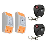 Wholesale Ch Switches - Wholesale- 2016 new 220 v 1 ch wireless remote control switch 2 piece receiver +2 piece transmitter Classic 2 key