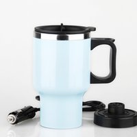 Wholesale Electric Travel Kettle - Car Heating Cup Auto Heating Vacuum Bottle Electric Kettle Cars Thermal Heater Water Canteen Boiling Auto Accessories Stainless Steel Cups