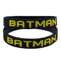 Wholesale Silicone Wristband Printed Logo - 100PCS Lot Printed Batman Logo Wristband Silicon Bracelet, Perfect To Use In Any Benefits Gift For Gamers