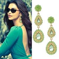 Wholesale 14k Jewerly - Antique Earrings Imitation Gemstone Earrings Bijoux Women Black Color Water Drop Dangle Earrings Designer Jewerly Women