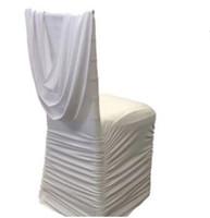 sillas de color morado oscuro al por mayor-silla de la silla de lujo decoración de la boda tela de la silla con cortina de spandex moda nueva silla de estilo sash envío gratis wt064