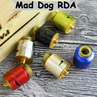 Wholesale Double Dog - Hot Mad Dog RDA Atomizers with 24mm Diameter & Double convex 2-post Build Decks for 510 Thread Vape Mods