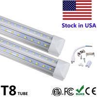 Wholesale t8 tube lights for sale - Group buy V Shaped Integrate T8 LED Tube Feet LED Fluorescent Lamp W ft rows LED Light Tubes Cooler Door Lighting