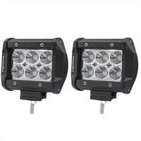 kapalı yol yeri toptan satış-Araba aydınlatma 4 inç 18 W 6 LEDs LED İş Işık Bar SUV ATV 4WD 4x4 JEEP Nokta Taşkın Işın Off Road Sürüş Sis Lambası Spot ışıkları Taşkın Lambası