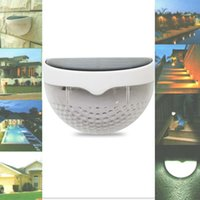 Wholesale Water Resistant Led Lamp - High Quality Quarter Ball 6 LED Light Control Solar Garden Light Water Resistant Outdoor Fence Security Lamp