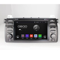 Wholesale Bmw E46 Radio Android - Pure Android 4.4.4 A9 dual-core 1.6G 1 DIN 7inch Capacitive Touchscreen Car DVD Player With Canbus For BMW E46 1998-2005 M3 1998-2005