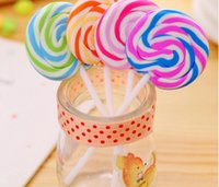 ingrosso eraser di lollipop-Articoli da regalo nuovo di disegno del fumetto Eraser Candy divertente eraser di gomma di Office e Studio graziosi bambini cancelleria della novità Lollipop cancellatori