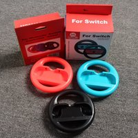 Wholesale Steering Wheel Kart Racing - Steering Wheel for Nintendo Switch Controller Joy Con Racing Wheel Handle for Mario Kart Super Light Version black blue red