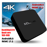 Wholesale Dhl Free Shipping Hdmi - 2018 rkmc17.2 fully loaded Stream 4K TV Box Quad core WiFi Lan Smart Rockchip RK3229 Android TV Box MXQ 4K DHL Free Ship