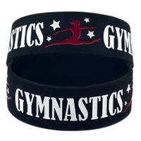 Wholesale Gymnastics Wear - Wholesale 50PCS Lot Gymnastics Silicone Wristband Sports Bracelet, It' Soft And Flexible Great For Normal Day To Day Wear