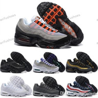 Wholesale Drop Shipping Boots - Drop Shipping Wholesale Running Shoes Men Air Cushion 95 OG Sneakers Boots Authentic 95s New Walking Discount Sports Shoes Size 40-46