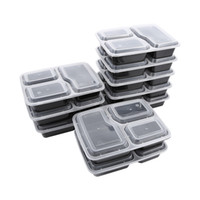 10pcs Mahlzeit Prep Box mit Deckel Fach Mahlzeit Prep Container Durable Lebensmittel Lagerung Container Microwavable Lunch Box