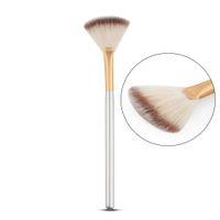 Wholesale Hair Nail Kits - Slim Fan Shape Powder Concealor Blending Finishing Highlighter Highlighting Makeup Brush Nail Art Brush for Makeup