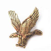 ingrosso eagle brooch-Commercio all'ingrosso 12 pezzi unisex Aquila camicia spilla pin button collare spille gioielli uomo donna