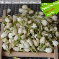 Wholesale organic jasmine flowers - 100g Natural Freshest Jasmine Flower Tea Organic Food Health Care Weight Loss Natural Organic Tea