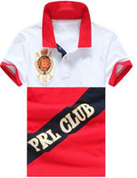 Wholesale Polo Club - Big Horse Printing Men Polo Shirt Breathable Short Sleeves PRL Club Polos Golf Clothing Famous Camisetas Vetement Tennis Casual Shirts