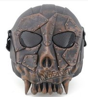 Wholesale Masks Tactic - wholesale WoSporT Desert Legion V1 Mask Outdoor Live CS Field Tactics Necessary Protective Steel Mesh Mask,Fashion men fashion Training Mask