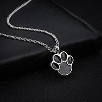 urna para cenizas al por mayor-Cute Puppy Claws Birthstone en memoria de perro mascota Memorial cenizas Urna colgante, collar de cenizas Keepsake Urn Charms joyería de la cremación