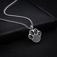 Wholesale Flower Memorial - Cute Puppy Claws Birthstone In Memory Of Pet Dog Memorial Ashes Urn Pendant Necklace For Ashes Keepsake Urn Charms Cremation Jewelry