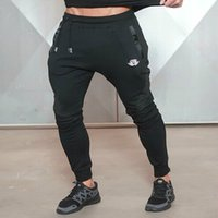 Wholesale Workout Cloths - Men's Pants Workout Cloth Sporting Active Cotton Pants Men Jogger Pants Sweatpants Bottom Legging Free Shipping