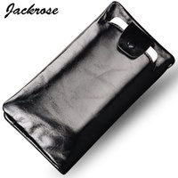 Wholesale Leather Business Card Wallet Price - Wholesale- Hot selling best price High quality Oil Genuine leather business long style men wallets suitable for 5.2 inch phone FGS121