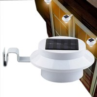 Sun Power Smart 3LEDs conduit Solar Gutter Utility Light Permanent pour les maisons, Fence Garden Shed Passerelles Anywhere Solor lampes Livraison gratuite