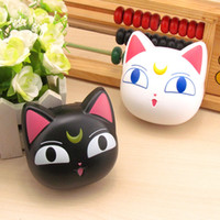 Wholesale Wholesale Black Contact Lens - Cartoon Contact lens box cute mini portable contact lenses storage box indivisual glasses case Hello Kitty cat shape contact lens box set