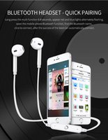 Wholesale Sports Cell Phones - S6 Bluetooth 4.0 Sports Wireless In-ear Neck Hanging Stereo Cell Phone Earphones Earset Headphones Accessories