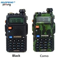 uv5r walkie achat en gros de-Vente en gros - BAOFENG UV-5R Walkie Talkie Radio bi-bande 136-174Mhz 400-520 MHz Radio portable bi-directionnelle UV5R (noir / camouflage)