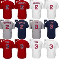 2017 Venta al por mayor Hombres Ladys Niños Niños Pequeños Boston 2 Xander Bogaerts 3 Sandy Leon Home Away Alternate Barato Fresco Flex Base Baseball Jerseys