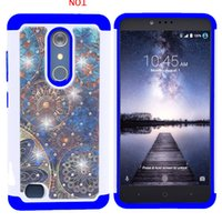 Custodia in cristallo Bling per LG Aristo / X POWER 2 / k7 2017 ZTE Blade Force N9517 Custodia in silicone antiurto per PC + silicone resistente allo sporco