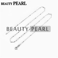 Wholesale Diy Sterling Silver Necklace Chain - 10 Pieces Wholesale Chains for Pendant DIY Jewelry Necklace with Clasp 1mm 925 Sterling Silver Chain