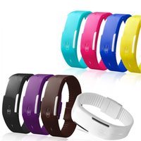 Moda Sport LED Relógios Candy Color Silicone Rubber Touch Screen Relógios digitais Waterproof Bracelet Relógio de pulso Running (DY)
