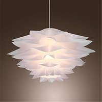 Wholesale Lamp Shades For Living Room - 60W Floral Pendant Light Lamp in Petal Featured Shade E27 Led Light for Bedroom Dining Room Game Room in Modern Contemporary Artistic style