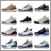 Wholesale Fabric Shoes For Men - Cheap New 3 black cement true blue white cement sport blue infrared 23 wolf grey mens basketball shoes for men sneakers 8-13