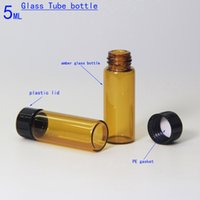 Wholesale Bottle Caps Wholesale Prices - High quality amber glass vials 5ml glass tube bottle for essential oil and perfume with a plastic cap wholesale price sell like hot cakes