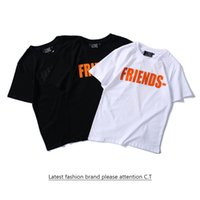 Wholesale Orange Class - 2017 summer new men and women lovers loose loose sports printing version of the back big V short sleeve T shirt class suit