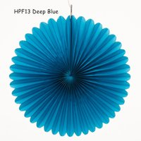 ingrosso commercio all'ingrosso di carta a nido d'ape-All'ingrosso-10 pollici = 25 cm 5 pz / lotto Baby Blue Tissue di carta a nido d'ape fan Fans festa di compleanno Baby Shower decorazioni sfondo Decor