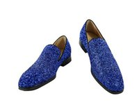 LTTL Fashion Designer Uomo Mocassini Glitter Flats Slip On Low Top Punta Rotonda Sparkle Dress Shoes Men Prom Scarpe Partito 2017