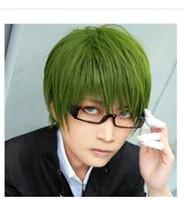 Wholesale Shintaro Midorima - peruca hair queen cosplay Details about Kuroko no Basket Midorima Shintaro Cosplay Wig Green Short Anime Party Wigs
