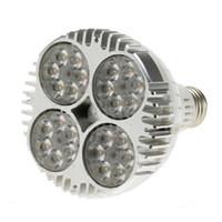 Wholesale 15 Degree Led Spotlight - 35W 75w Equivalent PAR30 24pcs LEDs Warm White SpotLight Bulb E27 Project Tracking Light 15 Degree Beam Angle