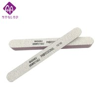Wholesale grey nail tips - Wholesale- 5pcs lot professional 100 180 Double Sides grey Nail Art Sanding Buffer Files For Salon Manicure UV Gel Tips Pedicure Tool