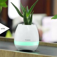 Wholesale mini piano toys - Smart Music flower pots bluetooth speaker real plant touch plant piano music playing singing song colorful night light popular toys gift