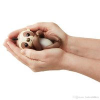 Hot Full 6 funções Finger Interactive Sloth Dedo Brinquedos Electronic Smart Touch Hand Natal Gift Intelligent Sloths Puppet Kingsley