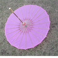 Wholesale Colored Umbrellas Wholesale - Chinese colored fabric umbrella, white pink parasols, China traditional dance color parasol, Japanese silk props WA1643