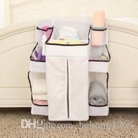 Wholesale Diapers Hang Bag - Hanging Bag Nylon Large Capacity Suspension Type Finishing Baby Diaper Multi Function Stylish Storage Pocket Home Tool 28mh J R