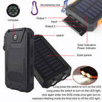 Wholesale iphone ipad solar charger for sale – best 20000mAh USB Port Solar Power Bank Charger External Backup Battery With Retail Box For iPhone iPad Samsung