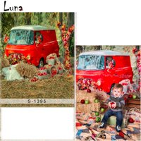 5x7ft Red Car Vinyl Photography Background pour enfants Scenic Oxford Backdrop Pour photo studio Props S1395